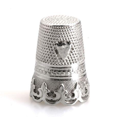 Vingerhoedje antiek zilver Gabler