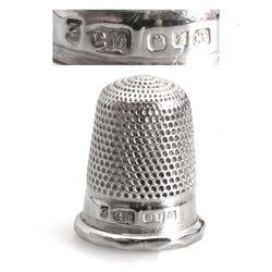 Antiek zilver vingerhoedje Birmingham 1899