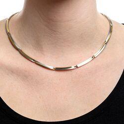 Boccia bicolor titanium collier 08018-02
