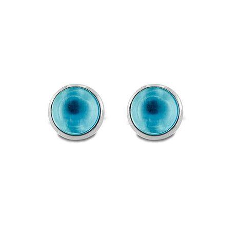 MY iMenso zilveren oorstekers pura aqua 09-2707