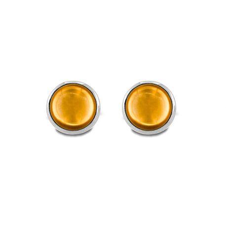 MY iMenso zilveren oorstekers Pura champagne