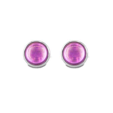 MY iMenso zilveren oorstekers Pura amethyst 09-2703