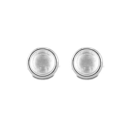 MY iMenso zilveren oorstekers Pura transparant