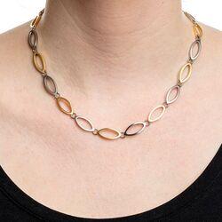 Boccia Titanium bicolor collier opengewerkt ovaal 0846-02