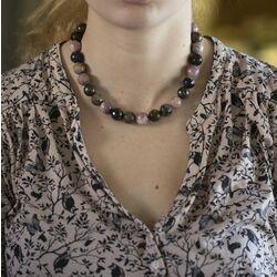 bruin roze collier afrikaans toermalijn
