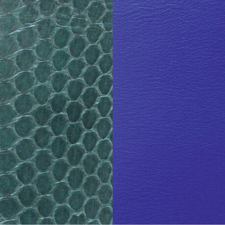 Les Georgettes 14 mm inlay slangenprint groen en blauw
