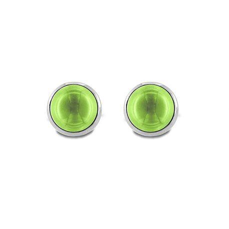MY iMenso zilveren oorstekers Pura groen