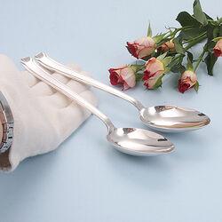 2 zilveren dinerlepels 4050 ideaal Hooijkaas