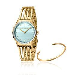 Esprit verguld horloge Unity licht blauw