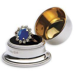 Zilveren ringendoosje voor DE ring