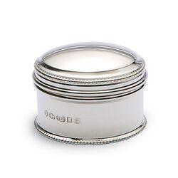 Zilveren doosje parelrand klein