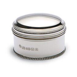 Zilveren doosje parelrand middenmaat