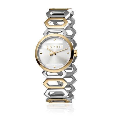 Esprit stalen bicolor horloge Arc