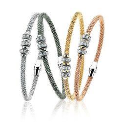 Zinzi Armband 3 Beads Zirkonia Zia839r