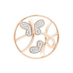 MY iMenso rosévergulde cover vlinders zirkonia 33-1416