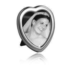 Hartvormige zilveren fotolijst 11,5 x 9 PH3 Carrs