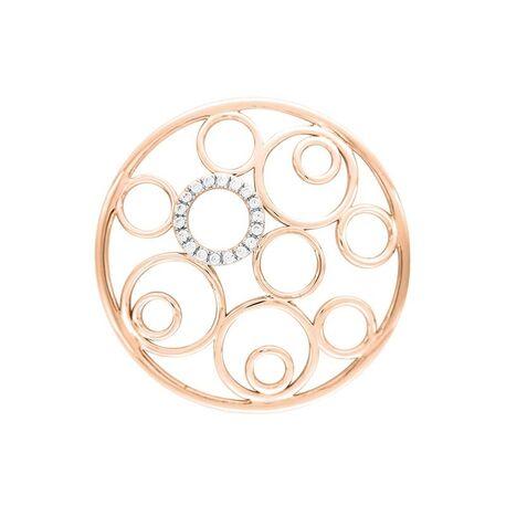 MY iMenso rosévergulde cover cirkels zirkonia 33-1413