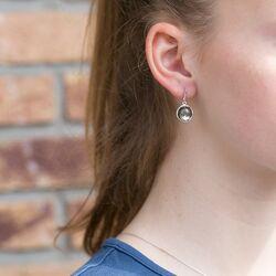 Julie Sandlau zilveren Bamboo oorhangers