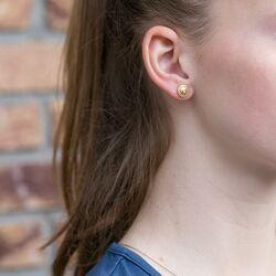 Julie Sandlau verguld zilveren oorstekers zirkonia