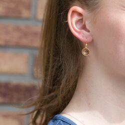 Verguld zilveren oorbellen zacht roze kristal Julie Sandlau
