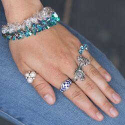 zilveren ring met topaas opaaltjes en pareltjes
