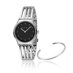 Esprit stalen horloge Unity zwarte wijzerplaat
