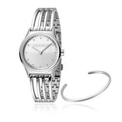 Esprit stalen Unity horloge met witte wijzerplaat