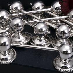 messenleggers parelrand zilver