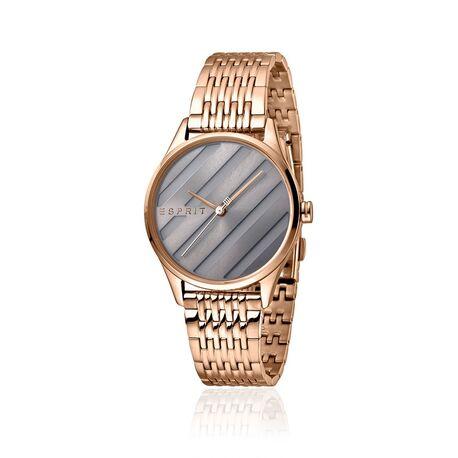Esprit roséverguld horloge E.ASY metallic