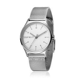 Esprit stalen horloge Essential zilver