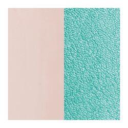 Les Georgettes 14 mm inlay licht roze blauw metallic