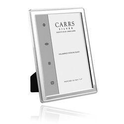 Zilveren fotolijst parelrand 18 x 13 cm nbr4