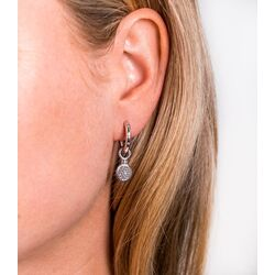 ZINZI zilveren oorbellen wit ZICH1674