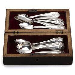 12 Zilveren theelepels Teunissen te Schoonhoven