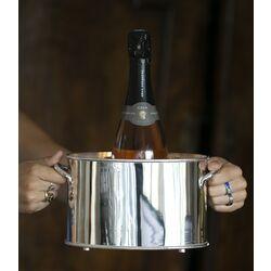 Wijnkoeler verzilverd voor 2 flessen