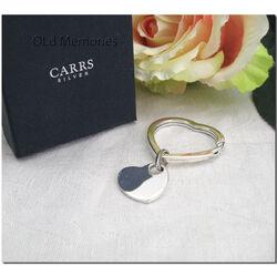 Zilveren sleutelhanger hart van Carrs