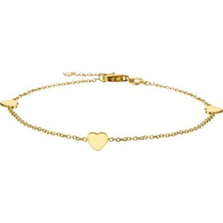 Gouden armbandje met kleine gouden hartjes