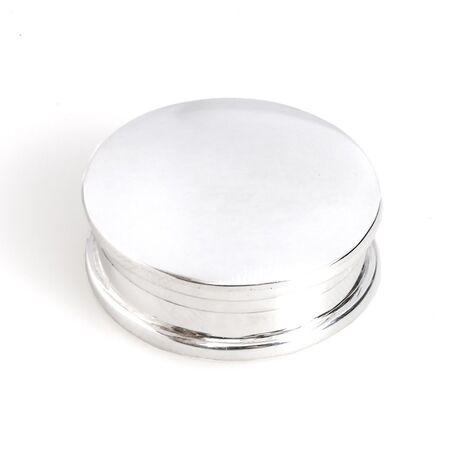 Rond doosje van zilver