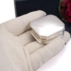 Rechthoekig doosje van zilver groot