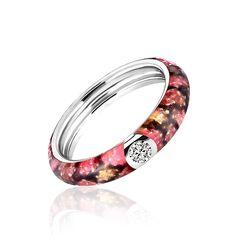 MY iMenso donker roze ring met slangenprint