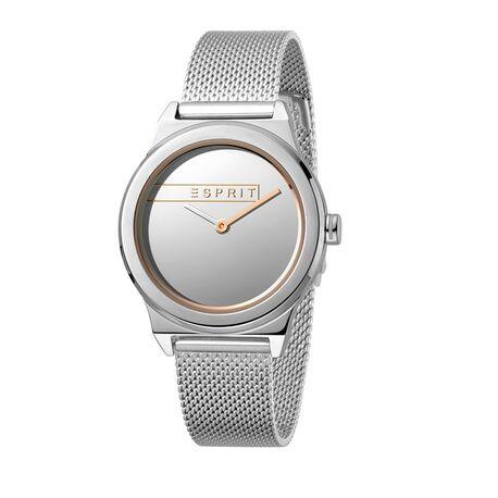 Esprit Magnolia horloge zilver rosé