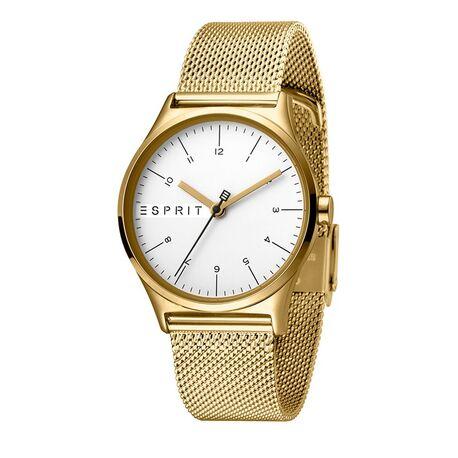 Esprit Essential stalen horloge verguld