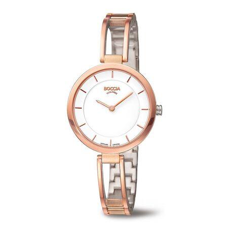 Boccia Titanium rosé horloge