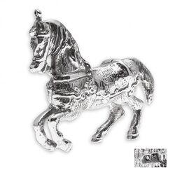 Zilveren tafelstuk paard