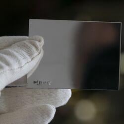Zilveren graveerplaatje 8 x 6 cm.