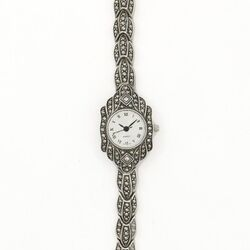 Zilveren markasiet horloge