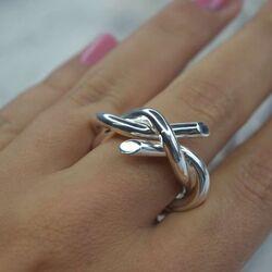 Bastian Inverun zilveren ring Twist