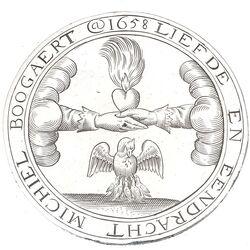 Zilveren huwelijkspenning 17e eeuw