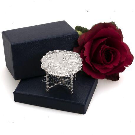 miniatuur tafel van zilver