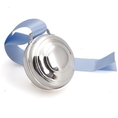 Zilveren speeldoos filetranden met opwindsleutel